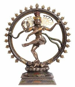 "18"" Large Lord Natraj Idol Hindu Dancing Shiva Statue Religious Nataraj figurine"