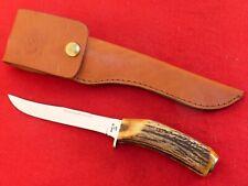 Case XX USA mint India stag fixed blade 516-5 knife & sheath