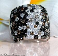 Glorioso: sóli negro blanco marrón brillante anillo 5,17 CT. wg585 8.640 €