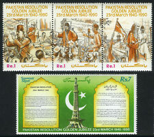 Pakistan 730-731, MNH. Pakistan Resolution, 50th anniv., 1990