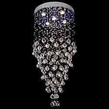 NEW Modern Crystal LED Pendant Light Ceiling Lamp Rain Drop Chandelier Evrosvet