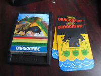 Vintage 1982 Intellivision iMagic Dragonfire Video Game Cartridge with Overlays