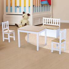 4-tlg.Kindersitzgruppe Kindertisch Kinderstuhl Kinderbank Kindermöbel