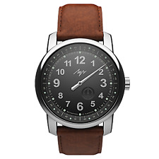 PREMIUM One Hand Luch Mechanical Automatic Wound Wristwatch. Black. 77490577