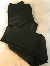 River Island Green Coated Skinny Jeans Size 8