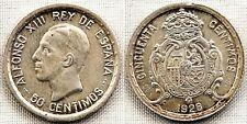Alfonso XIII. 50 centimos 1926. Madrid. UNC-/SC-. 2,5 g. Brillo original. Rayita