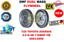 Für T25 Toyota Avensis 2.0 D - 4d 116bhp Hb 2003-2008 Neu Doppelte Masse Dmf