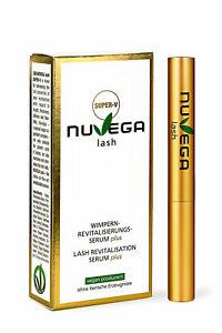 NuVega Eyelash SUPER-V - Verbessertes Veganes Wimpernserum Wimpern Booster 3ml.