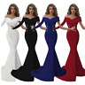 Womens Sexy Off Shoulder Short Sleeve Mermaid Dress Bodycon Evening Cocktail US