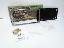 Vintage NOS Custom Chrome License Plate Frame 55 56 57 58 59 60 Ford Buick Chevy