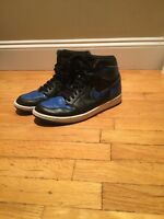 Nike Air Jordan Retro 1 High OG Black/ Royal Blue Men's Shoes Size 11 (2013)