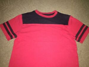 Arizona Red Boys Size Large Short sleeve T shirt With Navy Blue Stripes