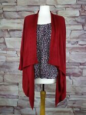 PER UNA red waterfall cardigan with built in top size 16