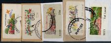 Singapore stamps - ATM SAM#1 to #5 Orchid fine used set