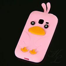 Samsung Galaxy Ace Duos S6802 Silikon Case Schutz Hülle Etui Chicken Rosa Cover