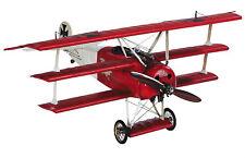 "Red Baron's Fokker Triplane WWI Desktop Wooden Model 15"" Airplane Shelf Decor"