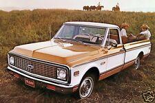 1971 Chevrolet CHEYENNE Pickup Truck, Gold/White, Refrigerator Magnet, 40 MIL