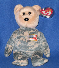 TY SALUTE the BEAR BEANIE BABY - MINT with MINT TAG