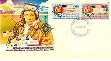 1984 Australia & New Zealand & Png 1st Official Mail - Merredin Wa 6415 Pmk