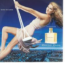 CD album CELINE DION LIVE TO LOVE perfume / parfums SAMPLER CD prom0