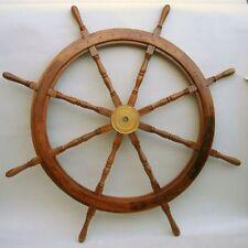 "48"" Wooden Ship Wheel ~ Boat~ Pirate ~ Nautical ~ Home Decor ~ Teak Wood Wheel"