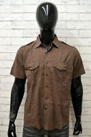 Camicia JCT Uomo Taglia Size L Maglia Shirt Man Manica Corta Regular Fit Cotone