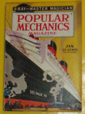 Popular Mechanics Jan 1935 Queen Mary – Movie Magic (Color Section) Nice See!