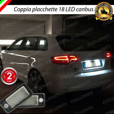 COPPIA LUCI TARGA LED PLACCHETTE COMPLETE CANBUS AUDI A3 8P + SPORTBACK 8PA