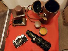 ZENIT- Russian Soviet USSR SLR 35mm Camera 1980's 2x lens