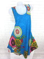 SOMMER Kleid Strandkleid Tunika Trägerkleid Hippie Türkis Gr. 46 48 50 (812)
