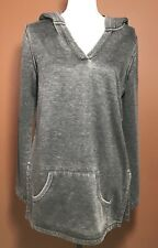 Venus Hoodie Women's Dark Gray Long Sleeve Pouch Pocket Casual Pullover Large