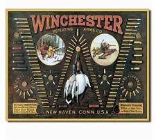 Winchester Bullet Sign Ammo Rifle Gun Pistol Firearm Powder Man Cave Bar Den