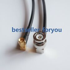 BNC male 90° to SMA plug right angle crimp jumper pigtail RF RG58 cable 3Feet 1M