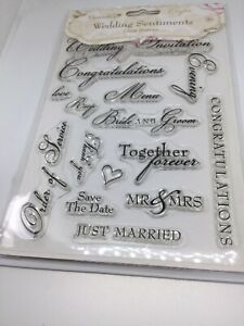 Wedding Sentiments Clear Stamp Set New