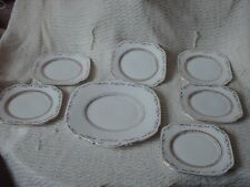 More details for 6 x roslyn bone china tea plates 15.5 cm wide & cake plate 25.5 x 22.5 cm 1946-6