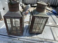 VINTAGE GREAT BRITAIN,1939 LG.BRASS CAGED LANTERN CHIEF,NO 3508,1935,ELECTRIC