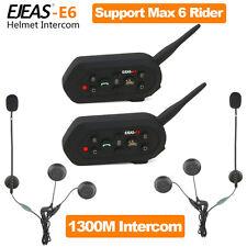 2x1300M BT GPS Bluetooth Interphone Motorcycle Motorbike Helmet Intercom X1