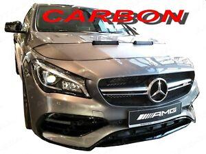 CARBON LOOK CAR HOOD BRA fit MB Mercedes-Benz W218 2011-2018 FRONT END MASK