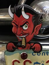 RED DEVIL topper mechanical license plate toppers eye move cigar jiggles L to R