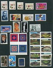 US 2001 Complete Commemorative Year Set MNH 84 Stamps - 47 Stamps & 3 Sheets USA