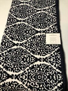 Threshold Performance Bath Sheet, Navy Blue and White, 33in X 63in