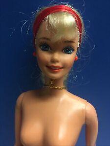 1966 Mattel Twist N Turn Barbie Doll Knees Bend Long Rooted Blonde Hair