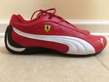 NEW MENS PUMA 301526 01 FERRARI RED LACE UP SNEAKER SHOES US 10.5 100% AUTHENTIC