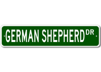 German Shepherd K9 Breed Pet Dog Lover Metal Street Sign - Aluminum