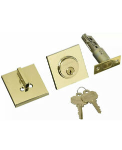 Baldwin 8220 031 Estate Contemporary Single Cylinder Deadbolt Polished Brass