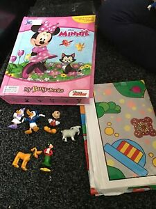 Disney MINNIE MOUSE My Busy Books 10 Figure Set & Playmat  Found Pink Car/rabbit