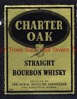 1940s PENNSYLVANIA Philadelphia Continental Charter Oak Bourbon Whiskey Label