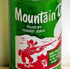 Mountain Dew 10oz. hillbilly ACL soda pop bottle - FILLED BY HONEST JOHN