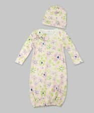 New Truffles Ruffles Baby Girls Floral Bunting Gown Sleep Sack + Hat 0-3 Months