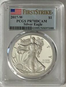 2017-W American Silver Eagle Proof - PCGS PR70 DCAM -FIRST STRIKE